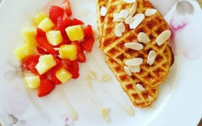 Healthy wafels als lunch